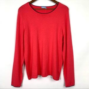 J. McLaughlin Coral Poet Sweater Navy Trim
